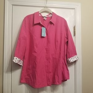 NWT Petite Large Christopher & Banks Button down